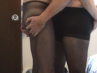More Hot Cock Play in Pantyhose