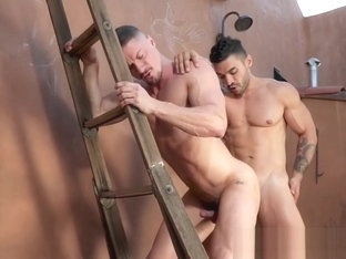 Handsome studs are going for deep bare hammering outside