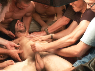 Tickle Torment A Ripped Stud in a Public Bar