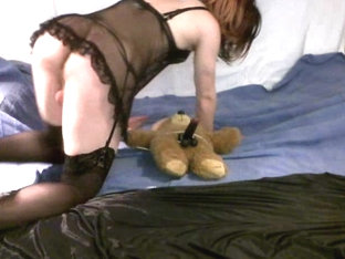 Horny CD playing with Teddy