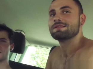 Bottom stud gets the bareback car ride of his life