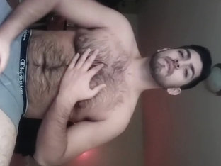 Hot Hairy Bear Latino Jacking Off On Webcam Show