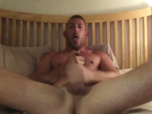 John East watches me stroke my cock while he poppers up HARD and cums