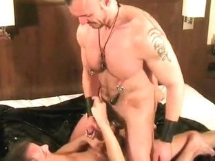Pierced cock top fucks ass