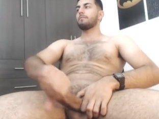 Hot Arab Guy teasing and Jerking Big Perfect Ccck