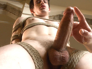 Straight southern stud's huge cock is almost too much to swallow