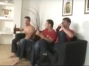 Three gay hunks got bored, so they had sex