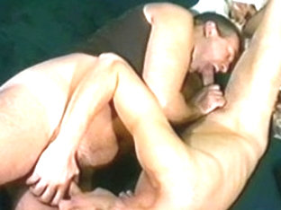 Exotic male pornstars Tony Serrano and Jay Richards in horny rimming, blowjob gay xxx movie