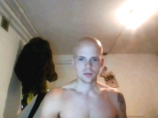 Bald Dude Jerks Off on Cam Sex Skype