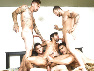 Allen Lucas & Axel Kane & Brian Michaels & Nicolas Ryder & Ty Mitchell in Pass The Bottom Part 3 -.