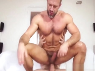 Dilf takes gigantic dick