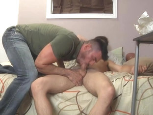 Muscle bear ravages twinks asshole with his big cock