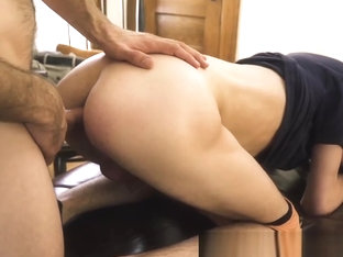 Stepdad and his stepson have an interesting sex session