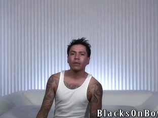 Tattooed amateur mexican guy shared by black guys