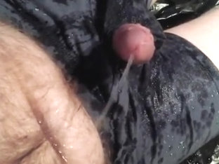 Hairy Redhead Wetting, Cumming, Pissing