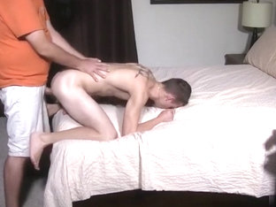 Daddy Breeds Hot Twink with Tight Little Ass