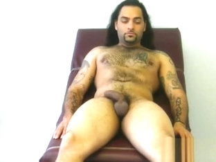 Sexy long hair stud comes back and get reexamined and jerked again