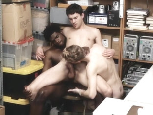 Two Straight White Boys Caught Shoplifting Fucked By Gay Black Officer