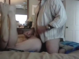 Handsome poof is beating off within doors and shooting himself on webcam