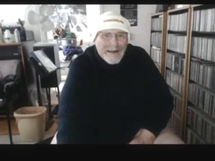 Grandpa cum on webcam 5