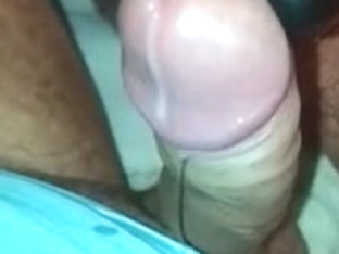 Handsfree orgasm with massager