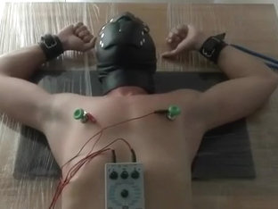 electro session with intense nipp stimulation