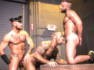 Beards, Bulges & Ballsacks! XXX Video: Michael Roman, Fernando Del Rio, Daymin Voss - FalconStudios
