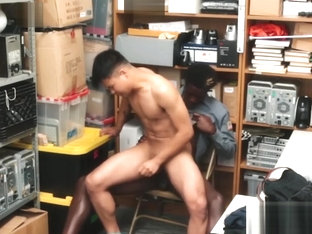Handsome Asian crook disciplined with interracial breeding