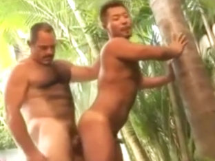 Asian Boy Joins Daddy for a Shower