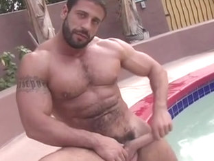 Carlo shows off in the pool