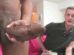 Blond guy riding fat black cock like pro part6