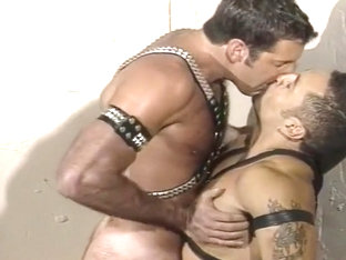 Dude In Leather Gets A Hard Ass Pumping