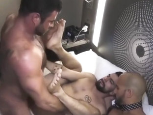 Antonio Biaggi fucks two hot guys bareback