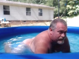 Naked Pool Dad