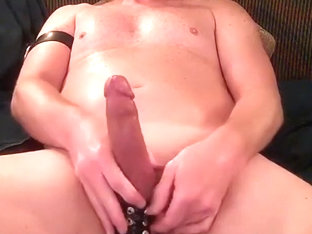 Intensively making himself cum