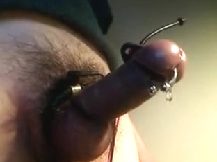 e-stim my pierced shlong