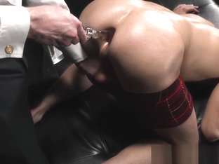 Perfect young sub toyed and fingered by dominant male