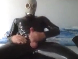 Me in rubber again + cum