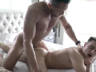 Naughty stepdad brings a jockstrap for his stepson