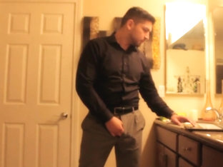 Don Stone In Bathroom Masturbating In Nice Outfit 1