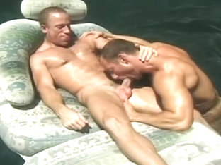 Eric Evans and Brent Baines - Poolside fuck