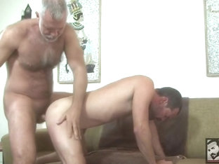 hairy daddy pounds his boy