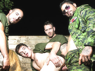 Bellamy Bradley & Ryan Bones in Battle Buddies Part 1 - DrillMyHole