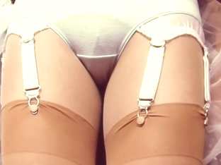 Cotton Panties With Tan Stockings