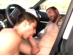 Police officer punishes and fucks naughty twinks