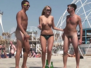naked guys at the beach
