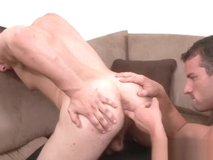 Brothers horny boyfriend gets cock part1
