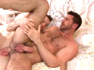Horny Billy gets hammered with Colton cock in the bedroom