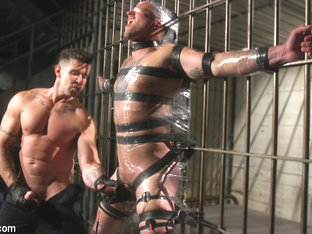 Max Cameron & Trenton Ducati in Prison Punk Scared Straight By Perverted Officer Ducati - BoundGods