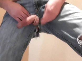 my cock and ass seen through my ripped jeans